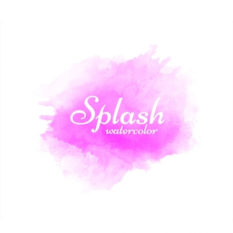 ピンクの水彩スプラッシュベクトル