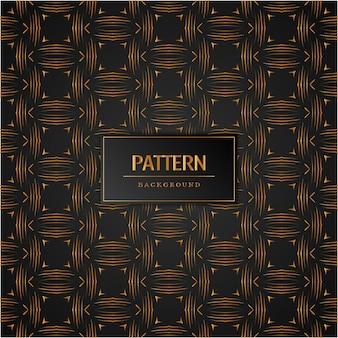 抽象的な黄金パターンのシームレスな背景