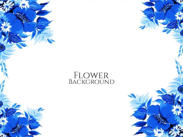 美しいエレガントな青い色の花の背景