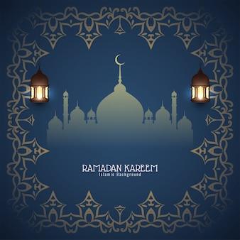 抽象的なラマダンカリームイスラム背景