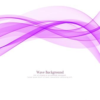 スタイリッシュな抽象的なピンクの波