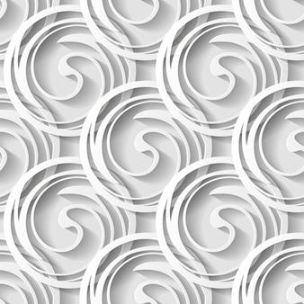 円と影の抽象的な幾何学的なシームレスパターン