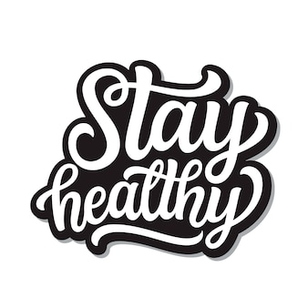 Оставайся здоровым надписи