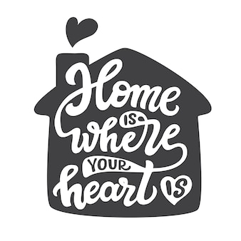 家はあなたのこころのあるところ、レタリング