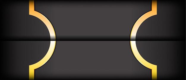 抽象的な現代的な暗い灰色と黄色のテクスチャレイヤーのオーバーラップの背景