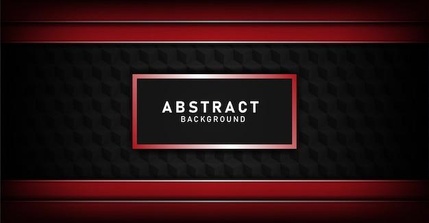 豪華な黒の重複するレイヤーの背景に赤のライン