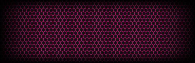 六角形の背景を持つピンクとダークグレー