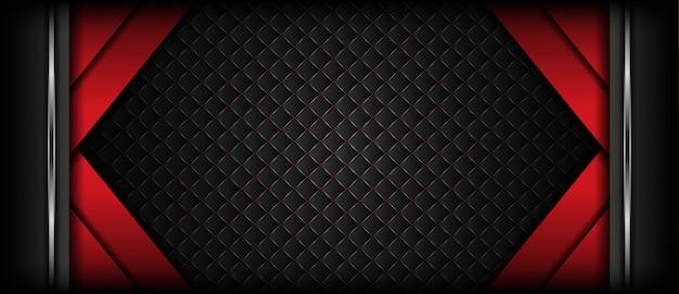 シルバーの質感と豪華な暗い赤いバナーの背景