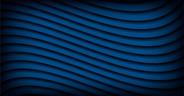 年の抽象的な古典的な青い波状デザイン背景色