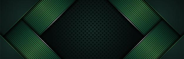濃い緑色の線の組み合わせで豪華な背景