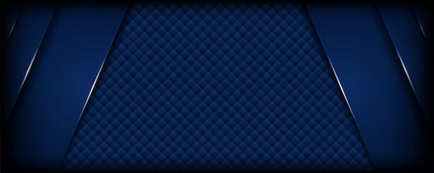 オーバーラップレイヤーと抽象的な暗い青色の背景