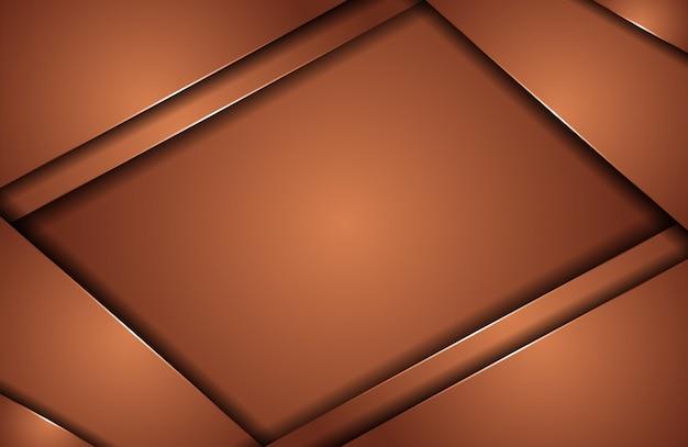 抽象的な茶色のラインとエレガントなモダン