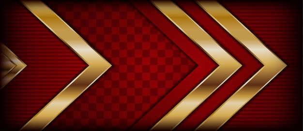 豪華なモダンな抽象的な赤と金色のラインの背景