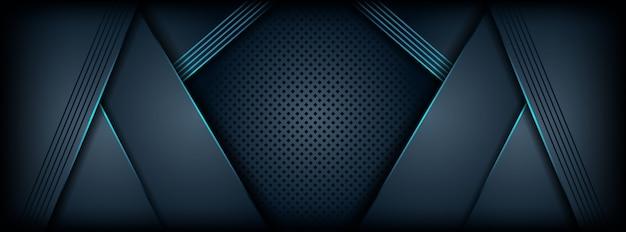 青の抽象的な形で豪華な背景