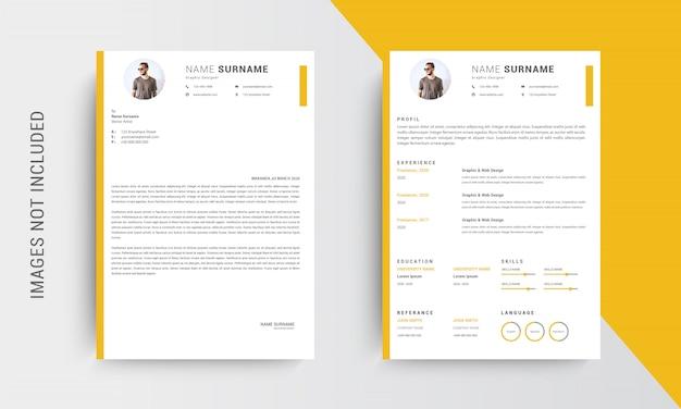 Профессиональное резюме резюме шаблона дизайна и бланки