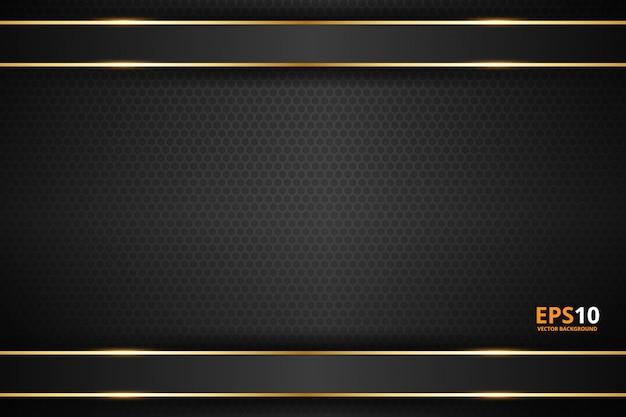 Черная полоса с золотой каймой на темном фоне
