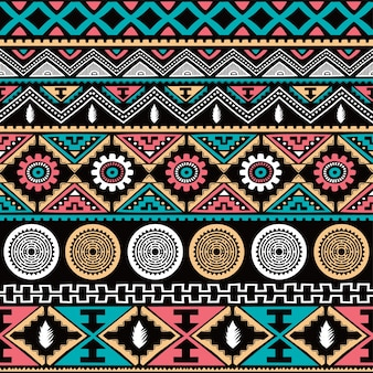 カラーネイティブエスニックシームレスパターン