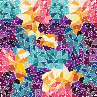 抽象的なカラフルな三角幾何学的背景