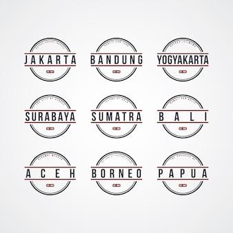 Тема этикетки в индонезии