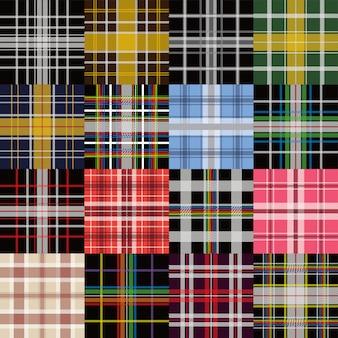 衣服産業格子縞パターンベクトルグラフィックイラスト