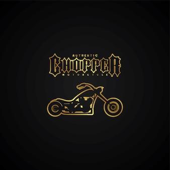 チョッパーオートバイのロゴタイプのテーマベクトルアートのイラスト