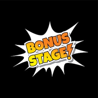 ボーナスステージコミック音声バブル漫画ゲームアセット