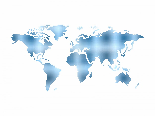 世界地図テーマベクトルグラフィックアートデザインイラスト