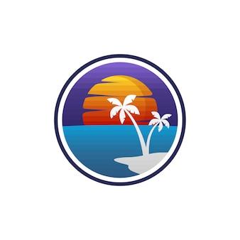 夏休みビーチバケーションベクトルアート