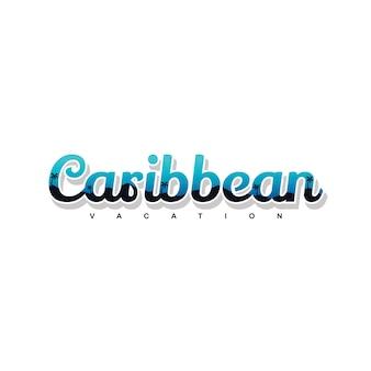 カリブ海の夏の休日ビーチサインシンボルベクトルアート