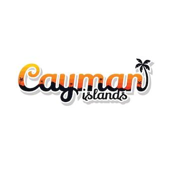 ケイマン諸島の夏の休日ビーチサインシンボルベクトルアート