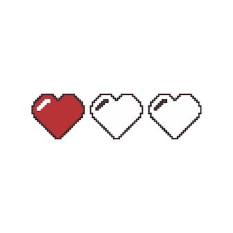 バレンタインデーピクセルアートのベクトル