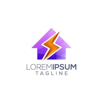 Домашний электрический сервис иллюстрации логотип