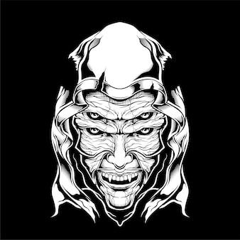怖い死神の手描き