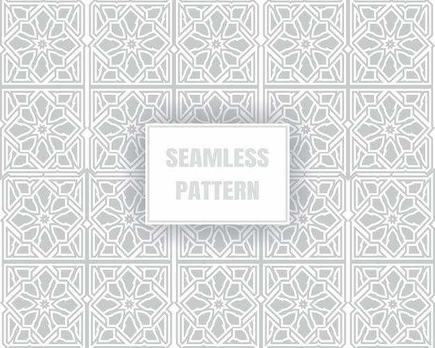 白い背景の上の単純な灰色のシームレスパターン