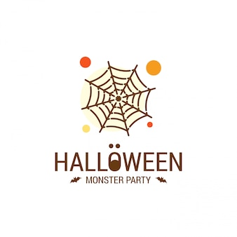 Счастливый дизайн хэллоуина с типографикой и белом фоне