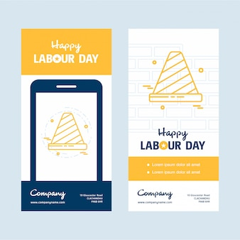 黄色のテーマベクターで幸せな労働日のデザイン