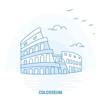 Колизей голубая достопримечательность