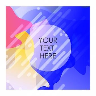 Красочный фон с типографикой дизайн вектор