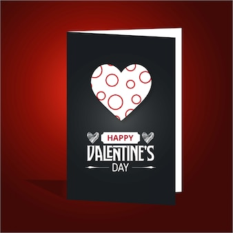 幸せなバレンタインデーフォールドカード