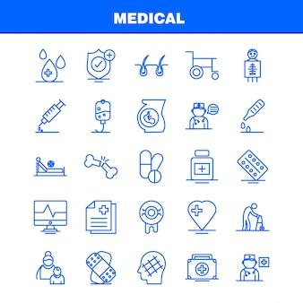 Набор иконок медицинской линии