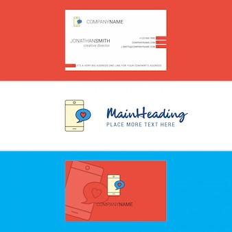 Красивая любовь чат логотип и визитная карточка.