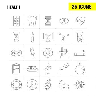 Набор иконок линии здоровья