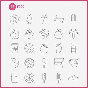 Набор иконок продовольственной линии