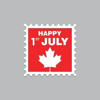 カナダの日スタンプ