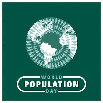人々は、世界中の世界人口の日の周りに団結しました