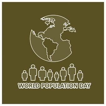 世界人口デーのためのクリエイティブ美しい挨拶