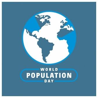 地球儀と世界人口の日のタイポグラフィ