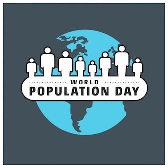世界人口の日のタイポグラフィ