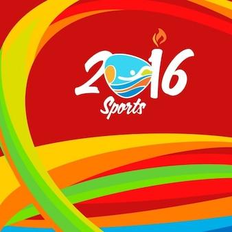 レッド波状リオスポーツブラジル色の背景