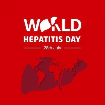 Всемирный день борьбы с гепатитом фон типографика